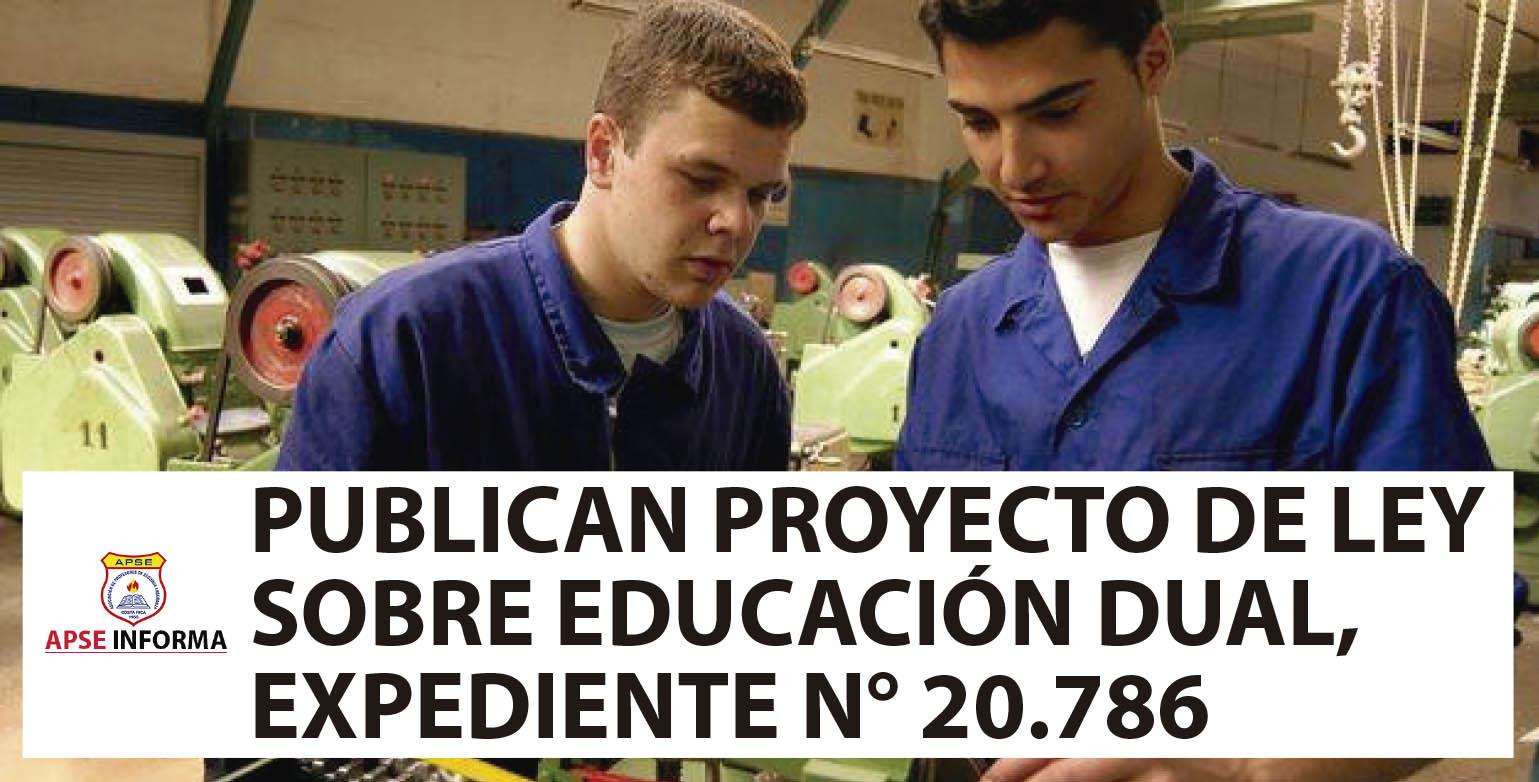 PUBLICAN TEXTO DEL PROYECTO DE LEY DE EDUCACIÓN DUAL, EXPEDIENTE 20.786
