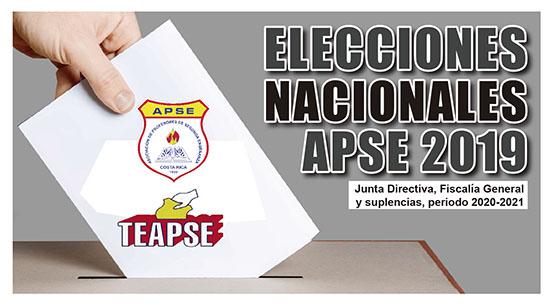 ELECCIONES NACIONALES APSE 2019