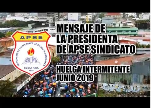 MENSAJE DE LA PRESIDENTA DE APSE SINDICATO, MÉLIDA CEDEÑO CASTRO