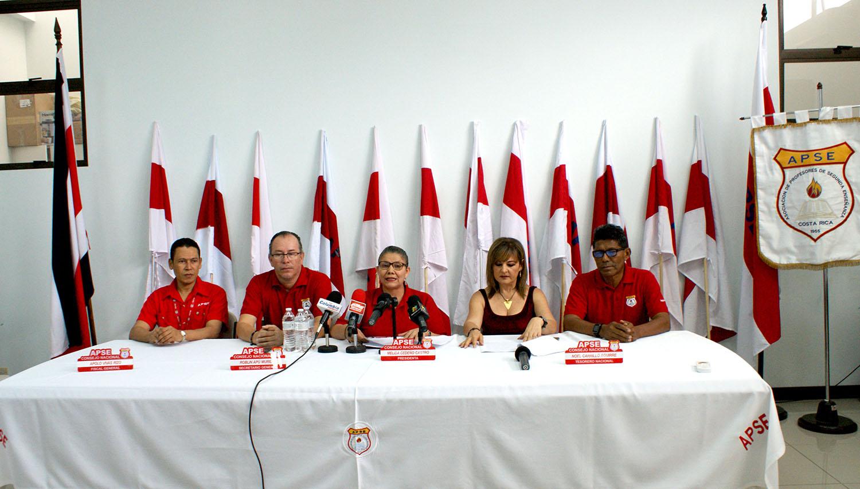 CONFERENCIA DE PRENSA: HUELGA INTERMITENTE DE APSE ES LEGAL