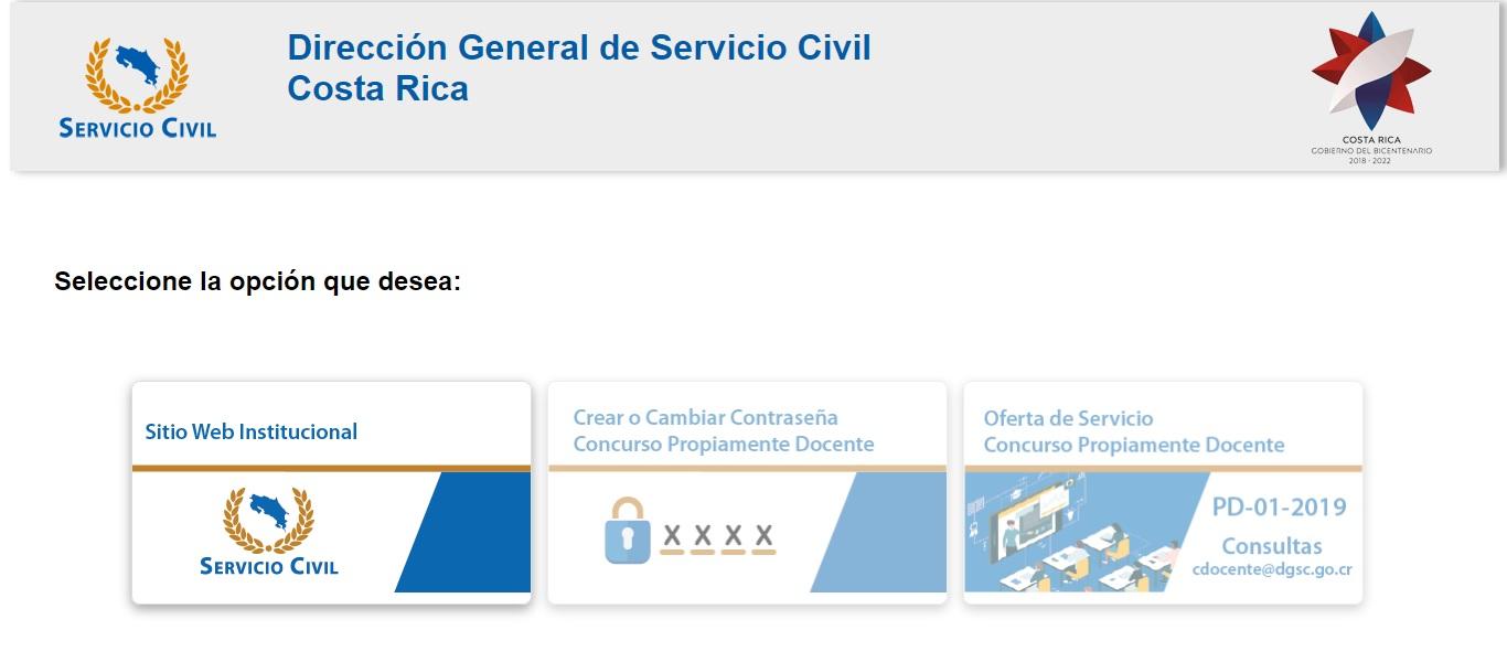 SERVICIO CIVIL ABRE CONCURSO PARA CUBRIR PLAZAS PROPIAMENTE DOCENTES EN PROPIEDAD E INTERINAS EN EL MEP