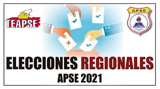 CANDIDATURAS A PUESTOS PARA ELECCIONES REGIONALES APSE 2021