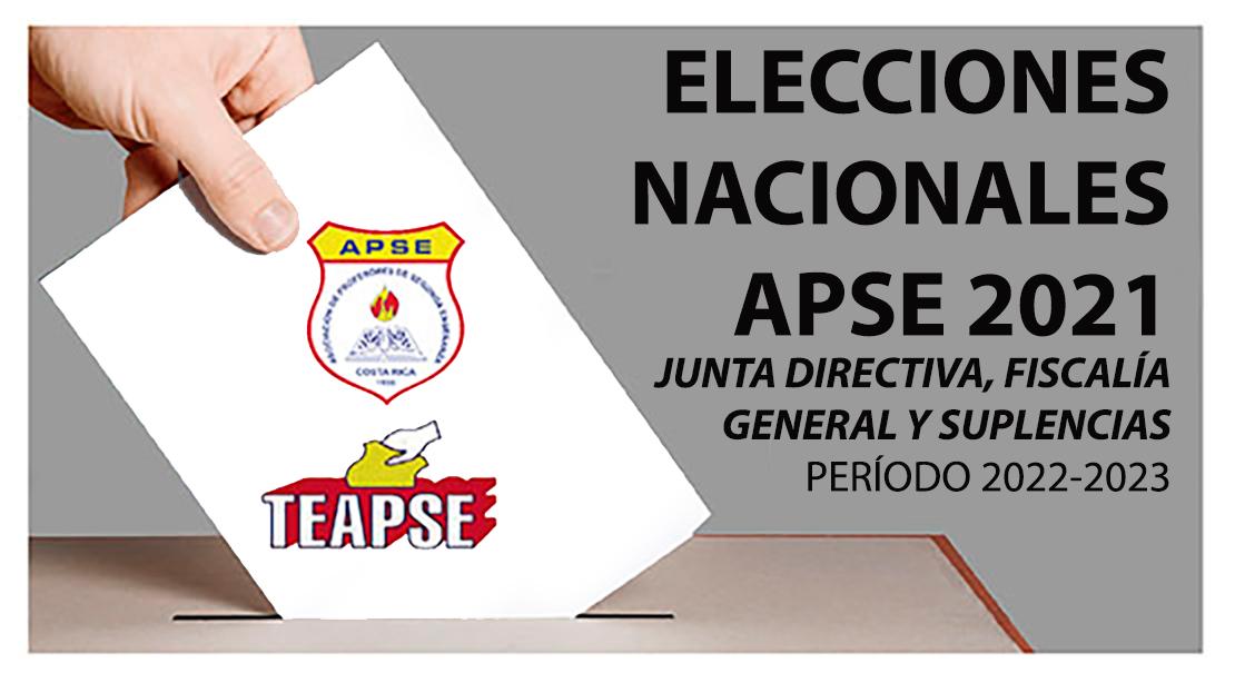 ELECCIONES NACIONALES APSE 2021